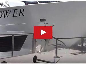 VIDEO - une vedette touristique percute un quai du port de San Diego