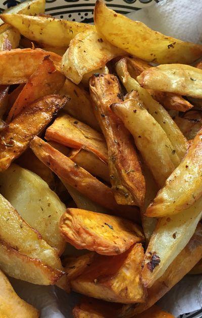 Frites au four de légumes racine et courges!