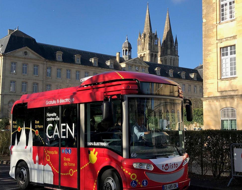 Communauté urbaine Caen la mer - Lancement de la navette électrique gratuite du centre-ville de Caen !