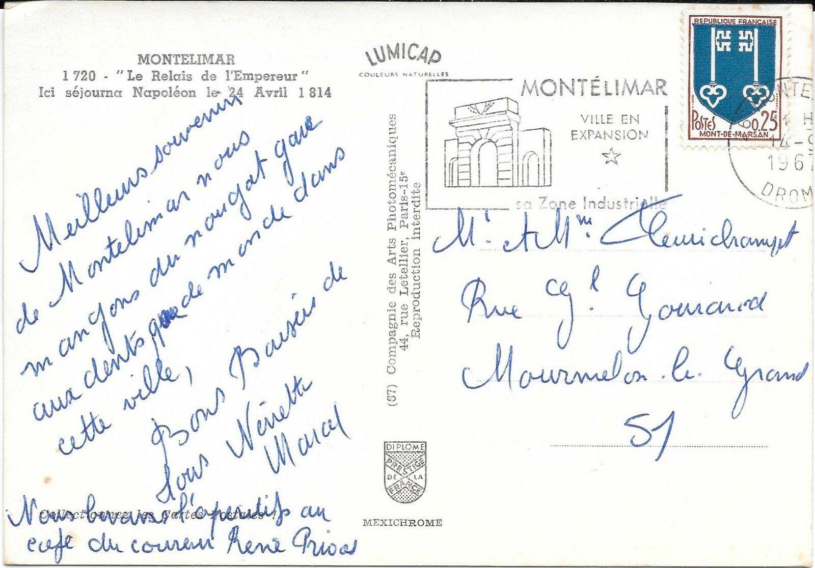 Le Relais De L'Empereur à Montélimar (N°65CV)