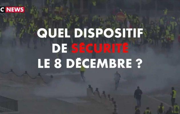 Gilets jaunes : Découvrez le dispositif de sécurité exceptionnel qui sera mis en place samedi à Paris lors de cette nouvelle journée de manifestations