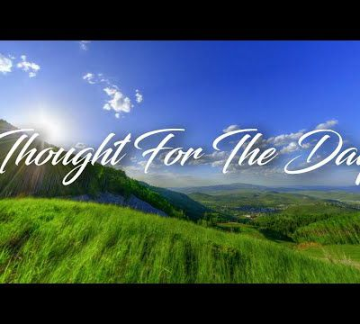 """A THOUGHT FOR THE DAY """"CONSECRATION"""""""