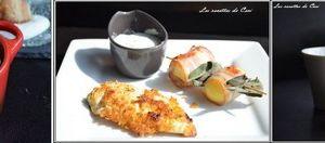 Idée Menu: salade en cocotte, KFC et ses pdt lardées, far aux abricots secs