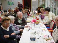 Le déjeuner de Noël avec les résidents, les salariés, le Conseil d'administration et les bénévoles