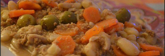 Haricots blancs et sa viande haché au Cooking chef Gourmet