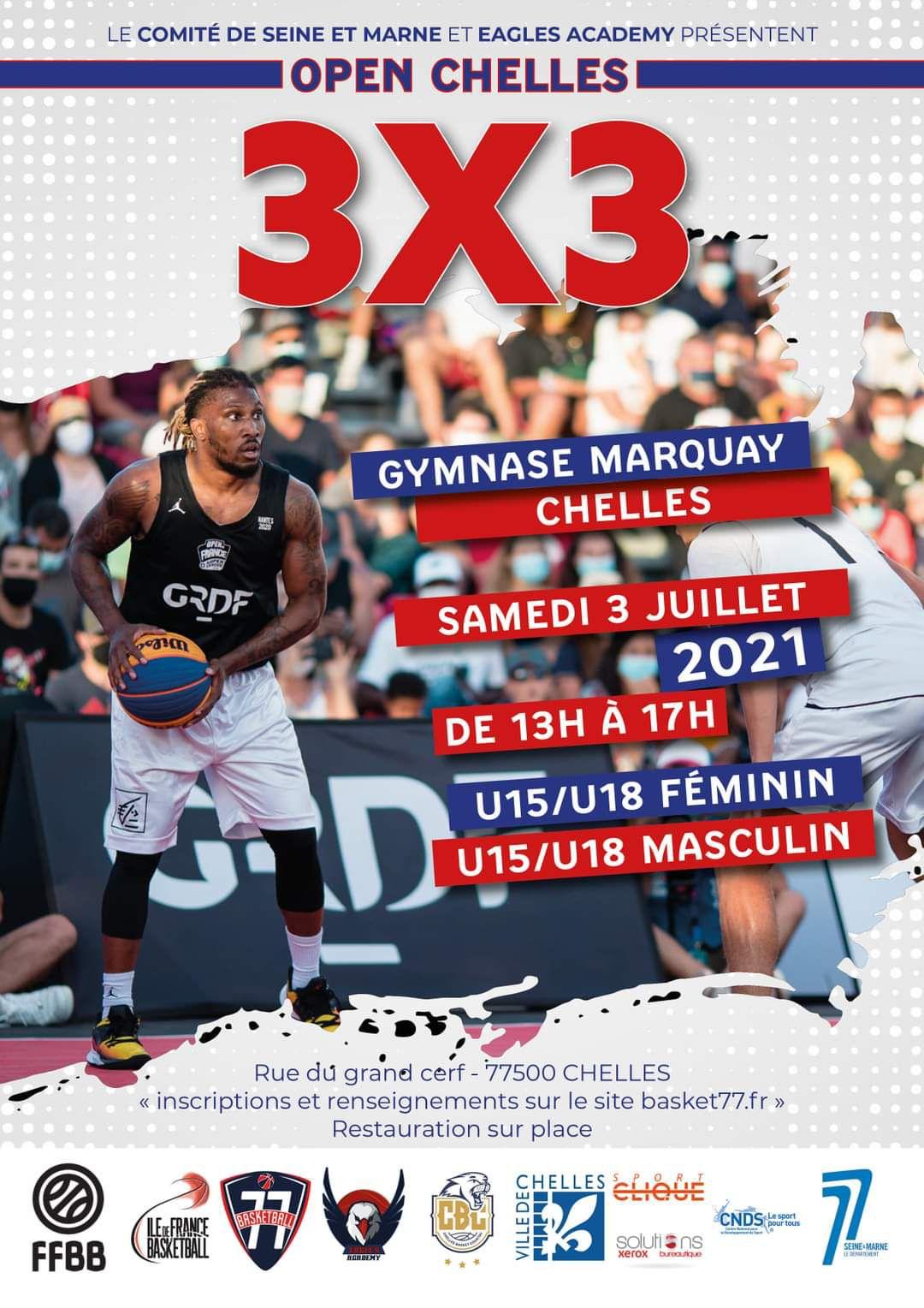 Tournoi 3X3 les 3 et 4 juillet 2021