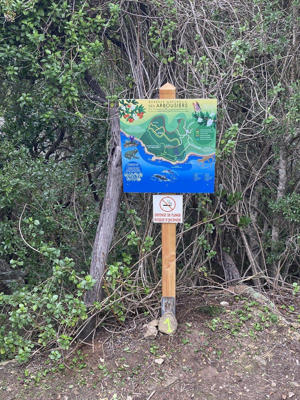 Nouveau visuel à l'entrée de la Réserve Naturelle des Arbousiers