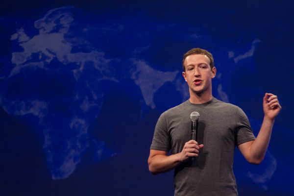 Facebook CEO Mark Zuckerberg on stage at the company's F8 developer conference in San Francisco, Calif., in October 2015