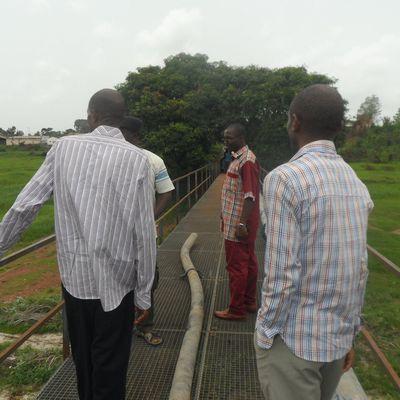Avancée au bord du NYONG à Akonolinga