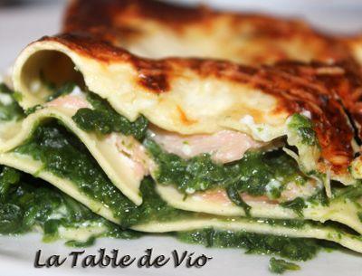 Lasagnes saumon épinard (légères)