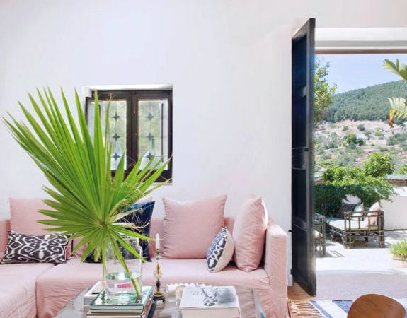 Une villa girly à Ibiza