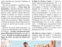"TRIATHLON INTERNATIONAL DE SAINT GILLES CROIX DE VIE 2014 "" REVUE DE PRESSE """