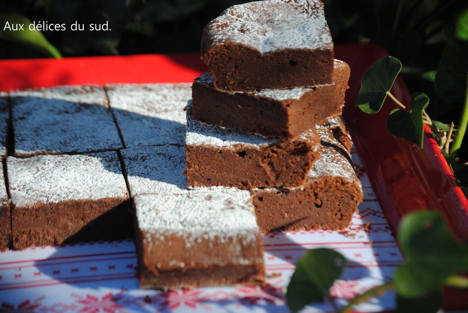Fondant au chocolat et aux châtaignes .
