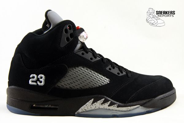 Nike Air Jordan V Black Metallic Silver Rétro 2011