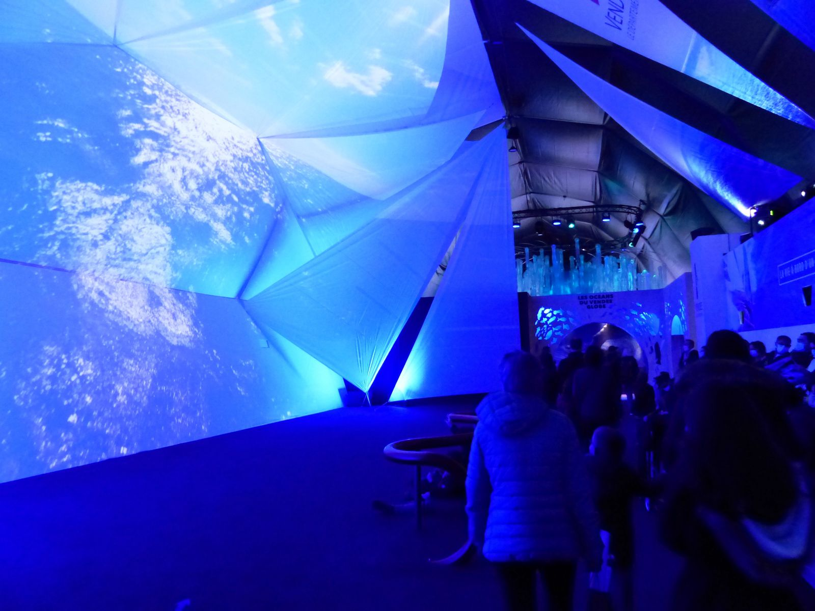 Visite de l'exposition du Vendée Globe