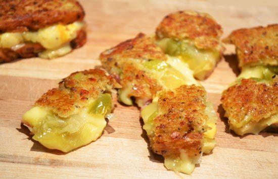 Grilled Cheese / Croque Poireaux, Jambon et Reblochon