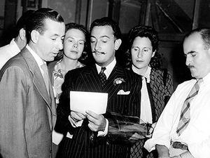 James Basevi (far right) with Salvador Dali (center…duh) - James Bavesi, Alfred Hitchcock et Salvador Dali