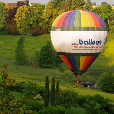 Hot air balloon in France