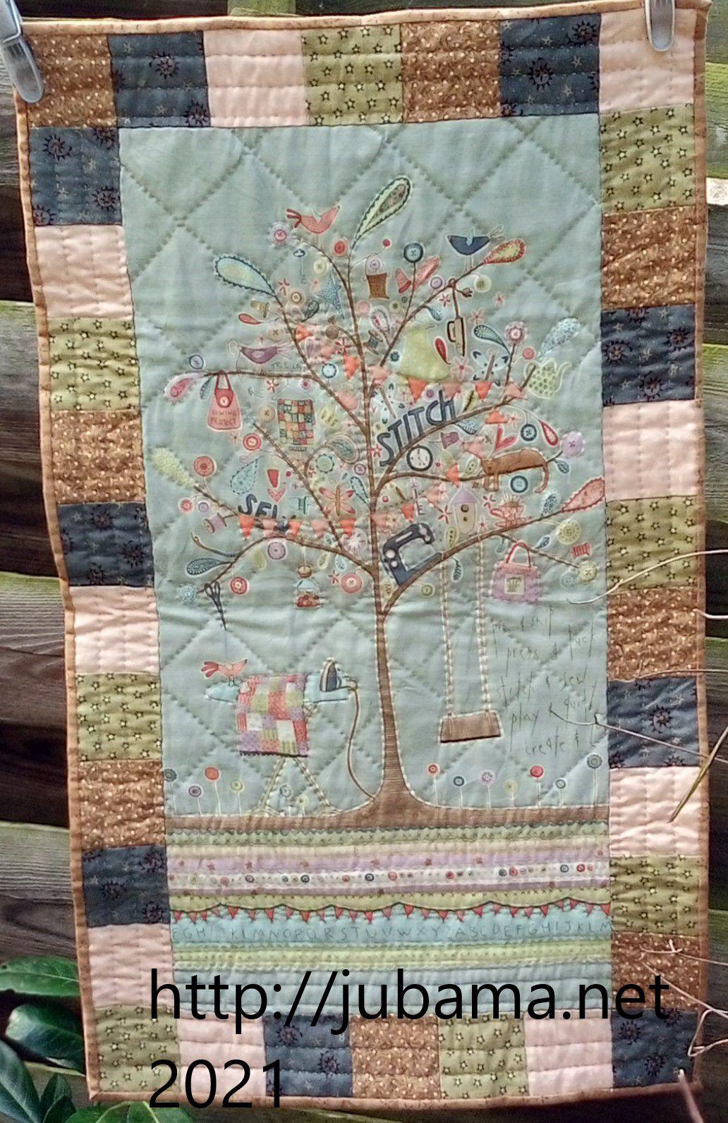 l'arbre de la quilteuse