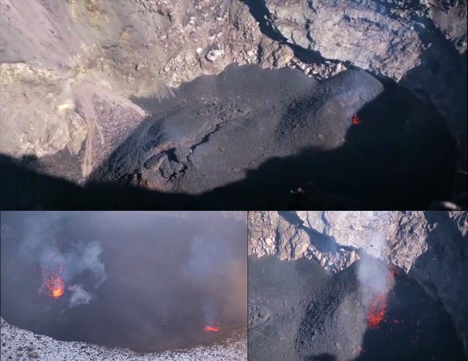 Etna NEC / northeast crater - Strombolian activity produced by cinder cones on 31.10.2020 - Doc. INGV OE