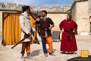 La Ficelle, le Bouffi et leurs Acolytes, Animations médiévales, au Château de Beaucaire - 10 avril 2016