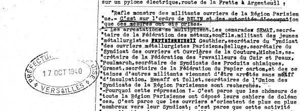 5 octobre 1940, A Aincourt, en zone occupée, le gouvernement de Pétain ouvre un camp d'internement