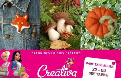 Salon Créativa de Rouen : Laine feutrée au Rendez-vous