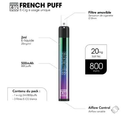 Test - Pod - Vape Pen - French Puff Blond Tabacco de chez French Lab