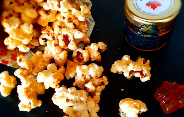 Pop corn au caramel d'érable
