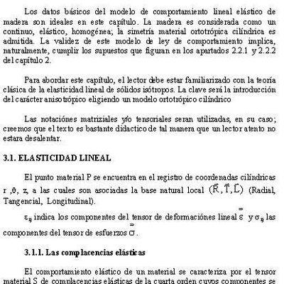 """CAPÍTULO 3  COMPORTAMIENTO ELASTICO MATERIAL """"MADERA IDEAL"""""""