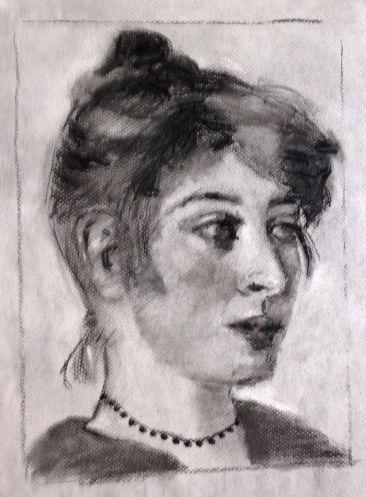 Madame Kroyer par son mari et modestement un de mes croquis réalisé un jour en cours à Annecy