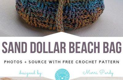 Sand Dollar Beach Bag Free Crochet Pattern #crochetbag