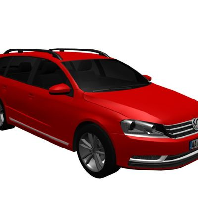 New free 3D Model: VW Passat B7 Variant 2012