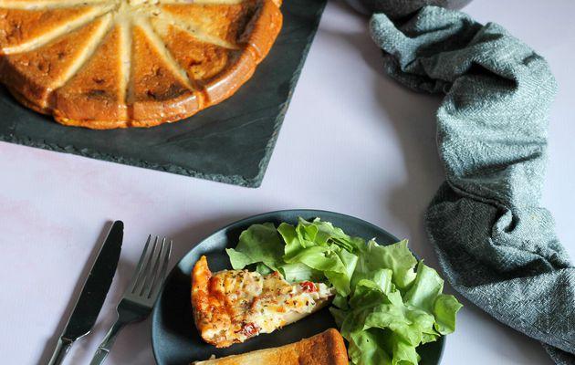 Quiche sans pâte aux tomates séchées, bacon et mozarella