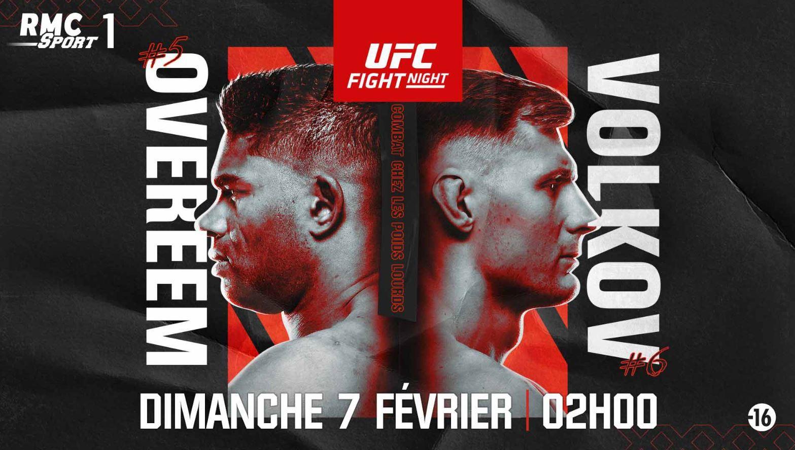 Alistair Overeem vs. Alexander Volkov (UFC Fight Night) dans la nuit de samedi à dimanche