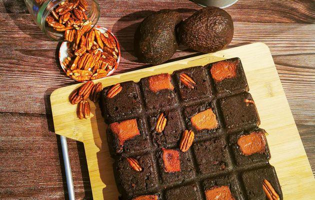 Brownie au noix de pecan/avocat