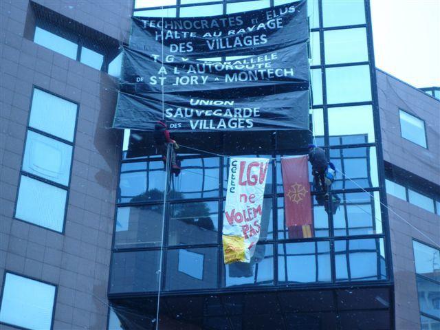 Manifestacion contra la LGV Bordeu-Tolosa