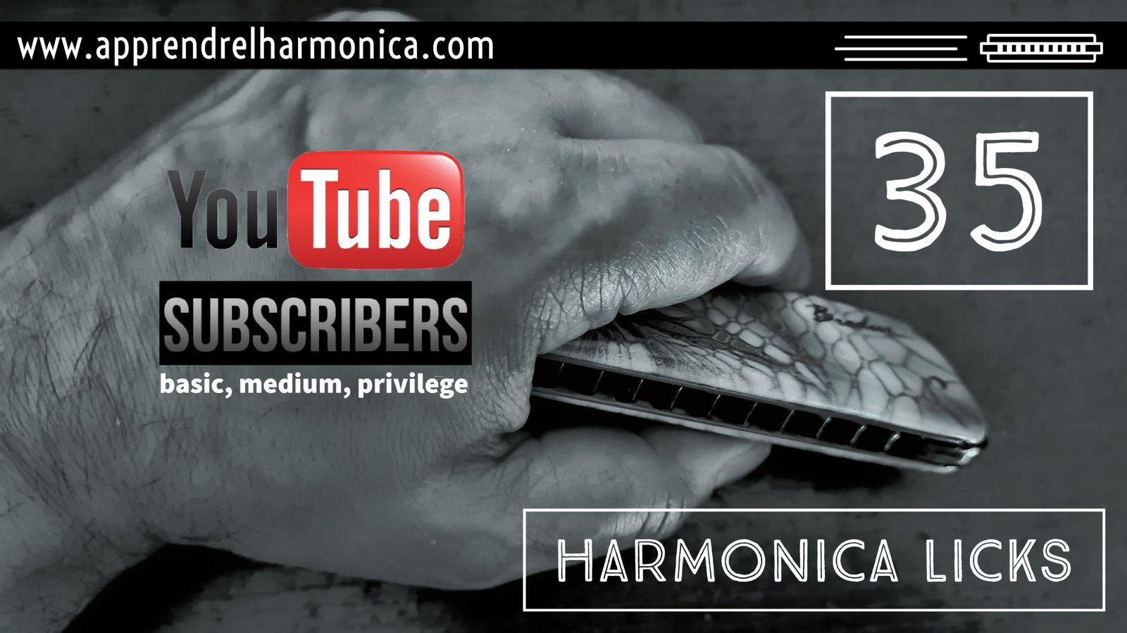 Harmonica licks - 35, 36 et 37 - Harmonica C