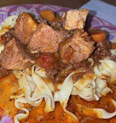 Mijoté de porc épicé aux carottes