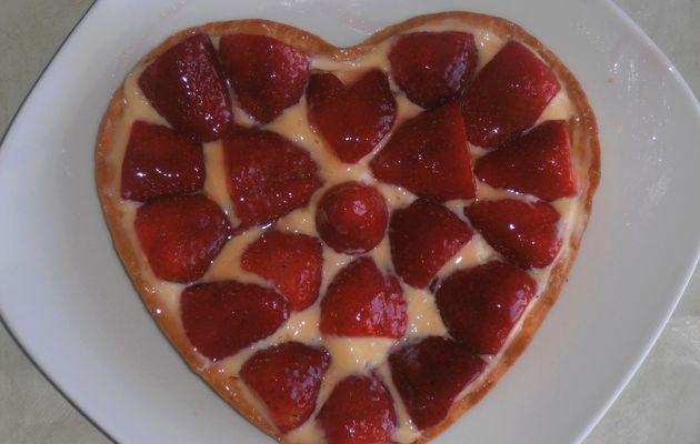 tarte aux fraises gourmande en coeur!!