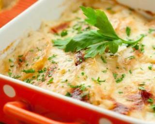 le gratin light légumes et knaki