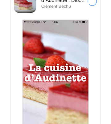 Une application Iphone pour La cuisine d'Audinette !