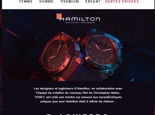 Cobranding : La marque de montre Hamilton s'associe au dernier Christopher Nolan