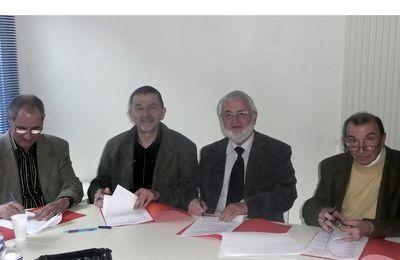 25 /02/2009 - Signature de la charte dans les locaux d'Horizon Jeunesse
