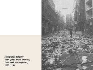Au matin du 7 septembre: scènes de désastre et de pillage (Cliquer pour agrandir)
