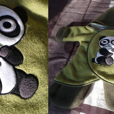 panda en appliqué