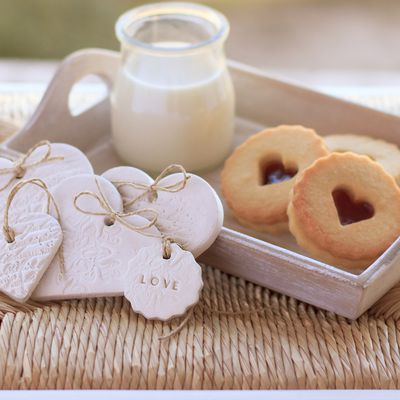 Gourmandises - Biscuits - Coquins - Lait - Coeurs - Photographie - Wallpaper - Free