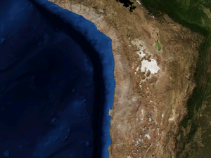 Extension of the Atacama desert - a click on the pictures to  open them.
