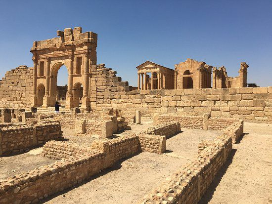 Le site de Sufetula, l'actuelle Sbeïtla en Tunisie, est une merveille archéologique