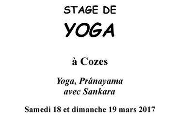 Stage de Yoga à COZES le 18 et 19 mars